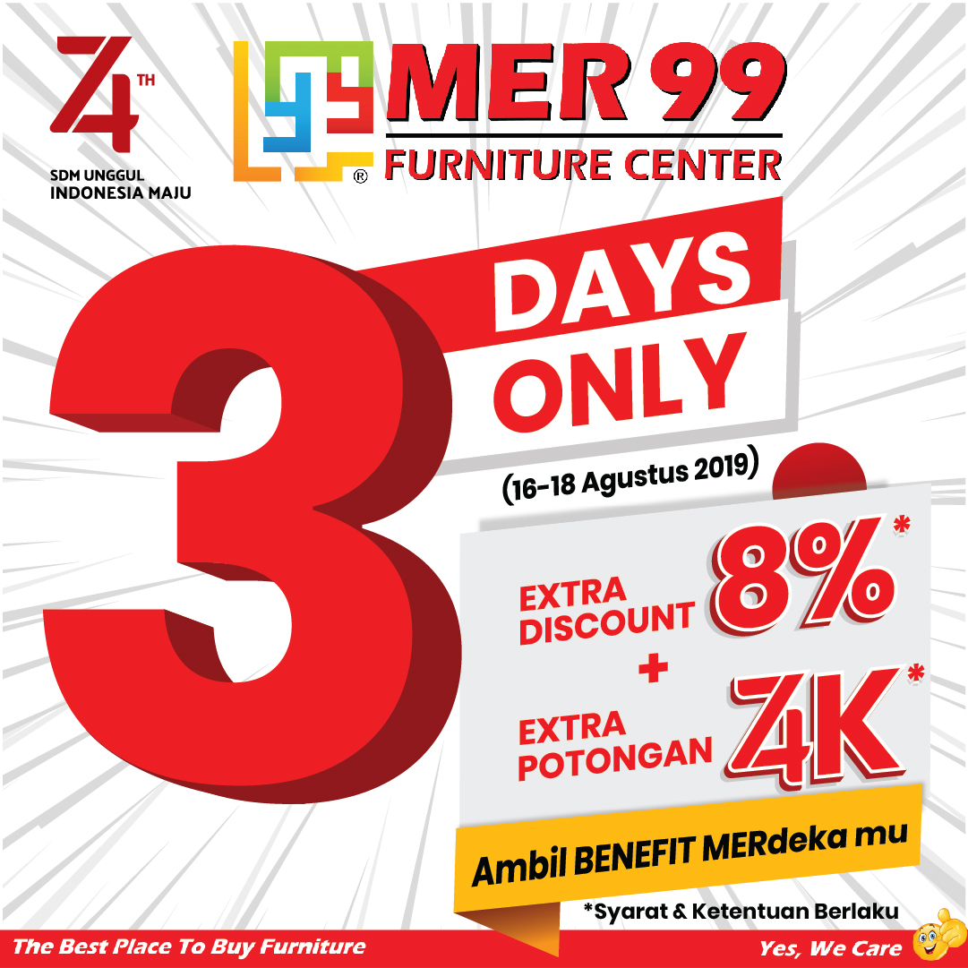 PROMO 3 DAYS ONLY (16-18 AGUSTUS 2019)