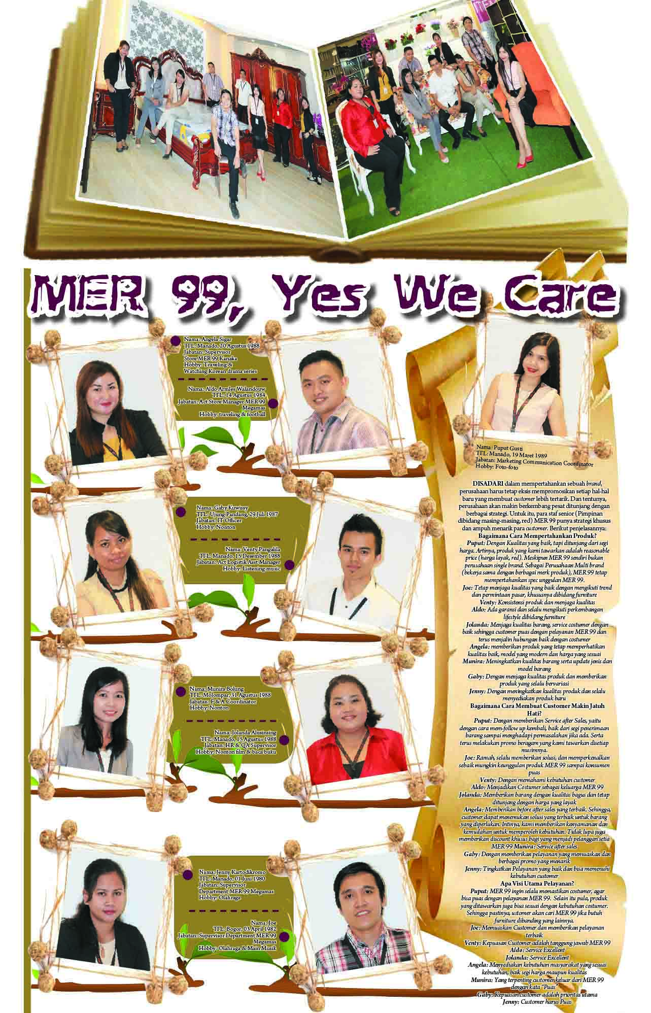 MER 99, Yes We Care!!